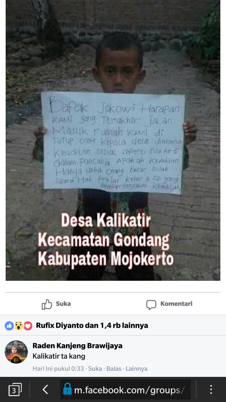 Memori Perjuangan Warga Kalikatir, Kecamatan Gondang, Kab. Mojokerto