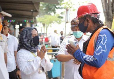 Pandemi Corona, Pemkot Mojokerto Pasang Tandon Air Dipasang di Pasar Tradisional