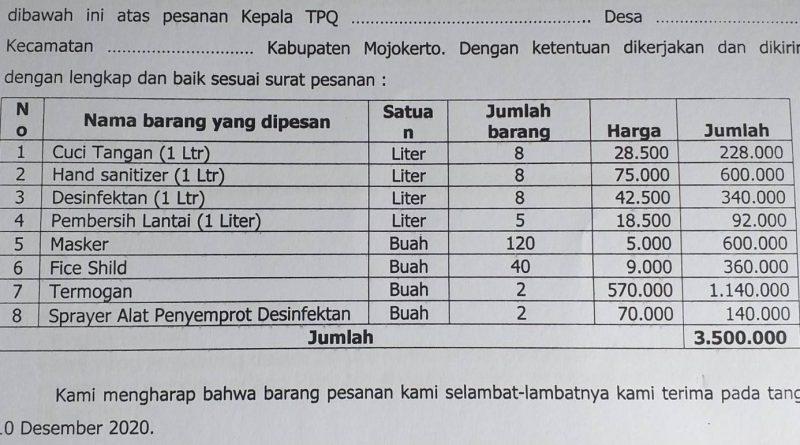 Penerima Bantuan TPQ Kecamatan Dlanggu Keluhkan Besarnya Biaya SPJ, Najib Ketua Korbin: Korbin sifatnya hanya kepanjangan dari Majelis Pembina (Mabin)