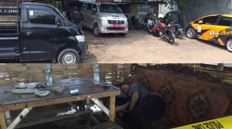 Saat Ngopi, Ditemukan Tidak Bernyawa di Warkop Olive Jalan Raya Teratai Sooko Mojokerto