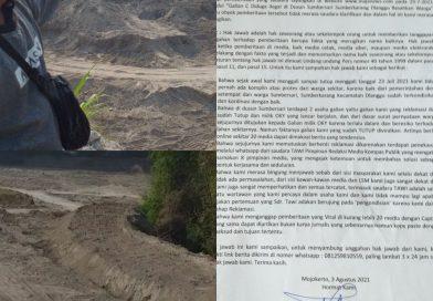 Terkait Berita Dugaan Galian C Ilegal di Dusun Sumbersari Sumberkarang Dlanggu, Busono Kirim Surat Ke Redaksi