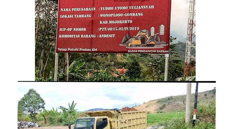 Galian C di Dusun Pandansari Wonoploso Gondang Diduga Menyimpang Dari Ijin