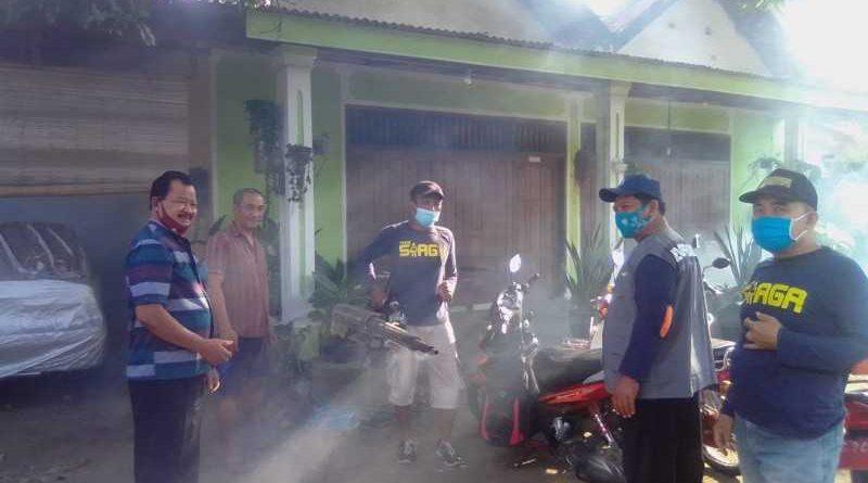 Buntut 3 Warga Terjangkit Gejala DBD, Desa Kelurahan Kecamatan Ngronggot Gelar Pengasapan